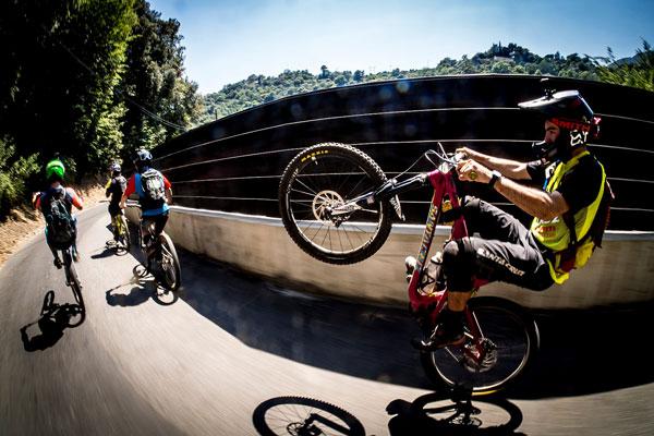 Santa Cruz Bicycles - Contact Us Bronson Wheelie Photo